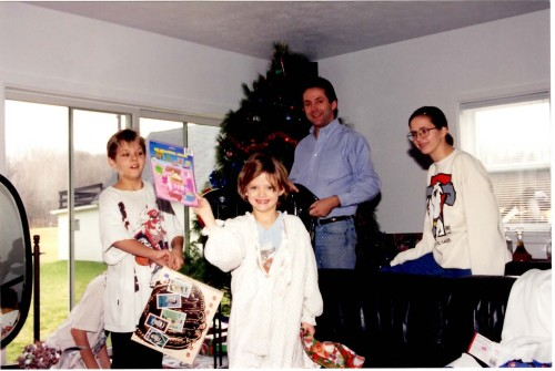 It was always Christmas at Dad's house!